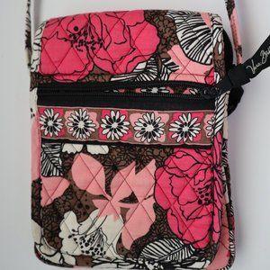 Vera Bradley Mocha Rouge Shoulder Cross-body Bag